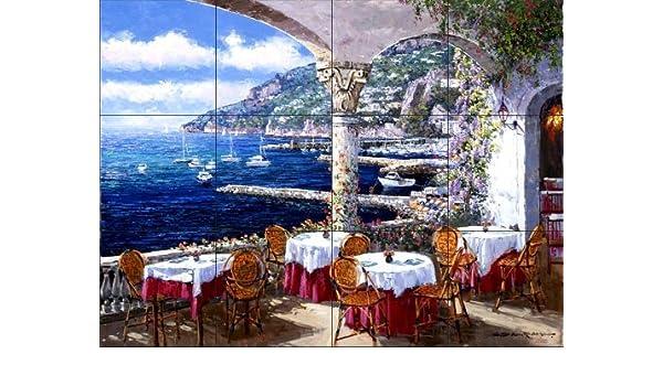 Fresque Murale En Carrelage Terrasse Amalfi Par Sam Park Soho