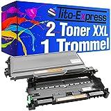 Sparset Trommel & 2 Toner-Kartuschen XL PlatinumSerie Schwarz kompatibel für Brother DR-2100 & TN-2120 HL-2140 HL-2150 HL-2150N HL-2170 HL-2170N HL-2170W DCP-7030 DCP-7040 /DCP-7045N MFC-7320 MFC-7320W MFC-7340 MFC-7440 MFC-7440N MFC-7440W MFC-7840 MFC-7840W Lenovo LJ2200