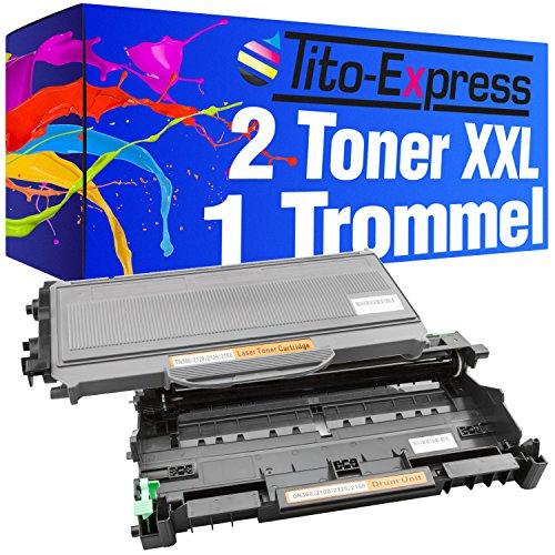 Lj2200 Drucker (Sparset Trommel & 2 Toner-Kartuschen XL PlatinumSerie Schwarz kompatibel für Brother DR-2100 & TN-2120 HL-2140 HL-2150 HL-2150N HL-2170 HL-2170N HL-2170W DCP-7030 DCP-7040 /DCP-7045N MFC-7320 MFC-7320W MFC-7340 MFC-7440 MFC-7440N MFC-7440W MFC-7840 MFC-7840W Lenovo LJ2200)