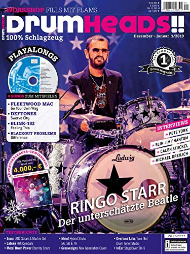 Ringo Starr Beatle / mit CD Playalongs / Blink-182 Feeling This / Pete York im Interview / Meinl Hybrid Sticks im Test