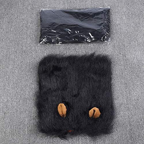 Garciadia Tier Haustier Kostüm Mähnenhaar Schal Partei Kostüm Kleidung Hund Kostüm Festival Partei Kostüm für Hund Haustier Perücke mit Ohren Hundehalsband Haustier Löwenkopf Abdeckung - Kostüm Tierische Ohren