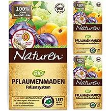 Naturen Pflaumenmaden-Falle gegen Pflaumenwickler + 2 x Nachfüll-Sets