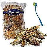 Lyra Pet 500g Croaker Fisch Trommler Trockenfisch Hundefutter + Ballschleuder
