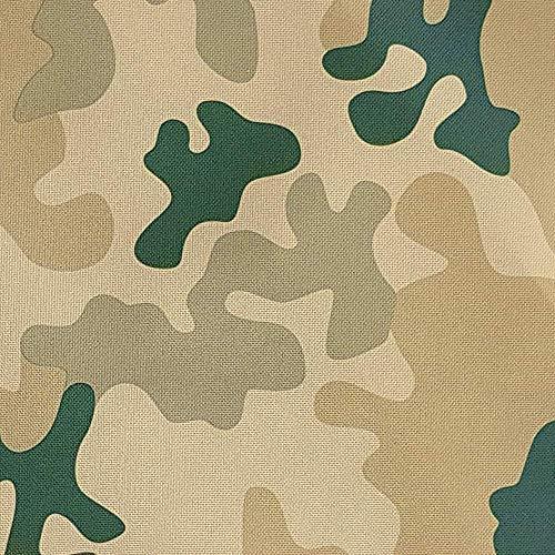 NOVELY® Oxford 210D Polyester Stoff Camouflage hell für Outdoor wasserabweisend (Möbelstoff Camouflage)