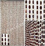 BeadedString Natural Wood and Bamboo Beaded Curtain-45 Strands-77 High--PLAIN Design-Bamboo and Wooden Beaded Door Beads-Doorway Retro Boho Bohemian Hippie Curtain-35.5 W x 77 H-Sunshine by BeadedString