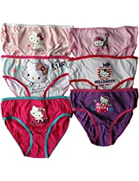Charmmy Kitty/Hello Kitty Mädchen Slips 6er Set - Star Around the World - Lila/Weiß/Rosa/Weiß/Zartrosa/Pink - MLS Kids Bundle