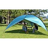 Oxking Outdoor 5-8 Person Large POP UP Canopy Beach Sun Shelter Gazebo UPF 50+ Sun Protection Waterproof Garden Party Camping Fishing Event Shelter Sunwall Tents Awnings