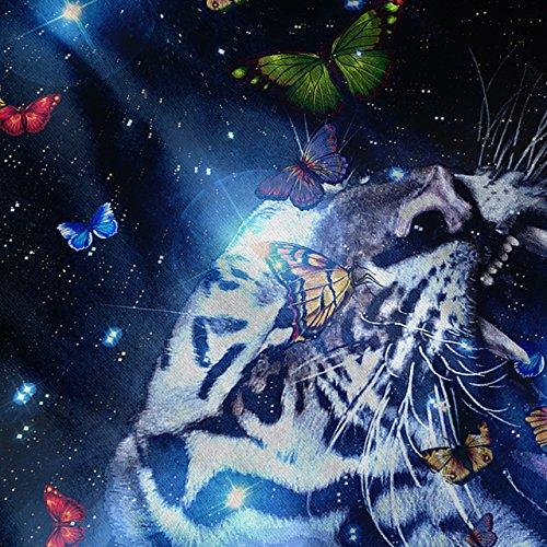 Tiger Gesicht Platz Tier groß Katze Damen S-2XL Muskelshirt | Wellcoda Marine