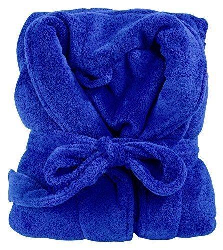 Bademantel Microfaser 14 Farben 5 Größen (L, Royalblau)