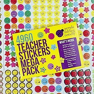 Purple Ladybug Novelty Lehrer Sticker für Kinder Mega Pack, 4960 Belohnungs & Incentive Aufkleber für Lehrer, Klassenzimmer & Schule Bulk Use! Kleine Geschenke für Kinder, Smiley & Sternaufkleber!