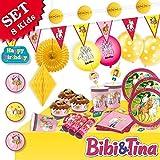 Creativ Company Bibi und Tina Partyset XL, 8 Kids, 79tlg