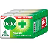 Dettol Original Germ Protection Bathing Soap bar, 125gm (Pack of 5)