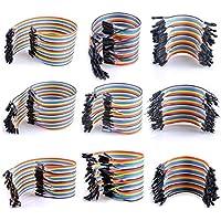 Tonver - Juego de 9 cables de 40 pines para paneles de pan, incluye hembra a macho y hembra a hembra y macho a macho