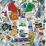 Briefmarkensammlung Island, abgestempelte Marken, verschiedene Motive, 100 Stück