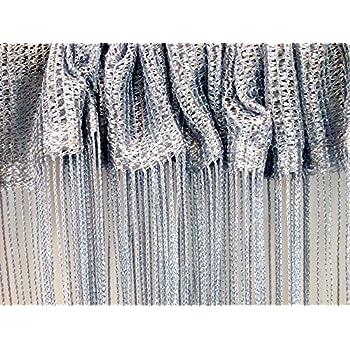 Grey Glam Glitter Sparkle Lurex String Screen Window Door