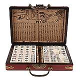 gen¨¦rico Sharplace Mahjong Juego Chino Antiguo Conjunto con Caja de Madera
