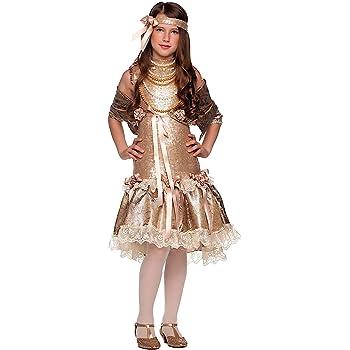 Costume di Carnevale da Anni 20 Vestito per Ragazza Bambina 7-10 Anni  Travestimento Veneziano Halloween Cosplay Festa Party 49541 Taglia 7 S 95f960b06a85