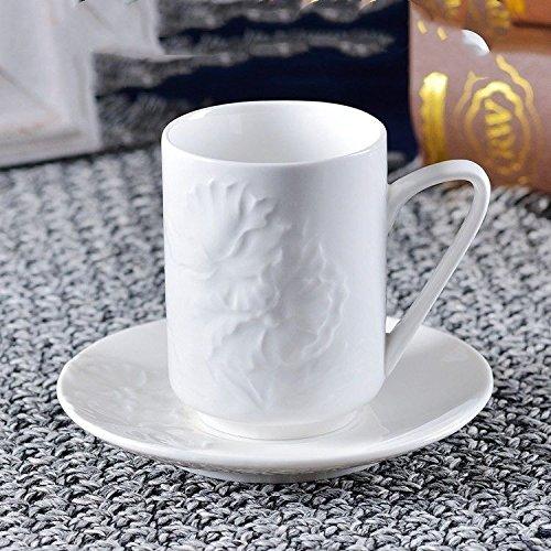 HONGYUANZHANG Keramik Kaffeetasse Flower Cup Milch Frühstück Schale Office Home Tasse (150 Ml)