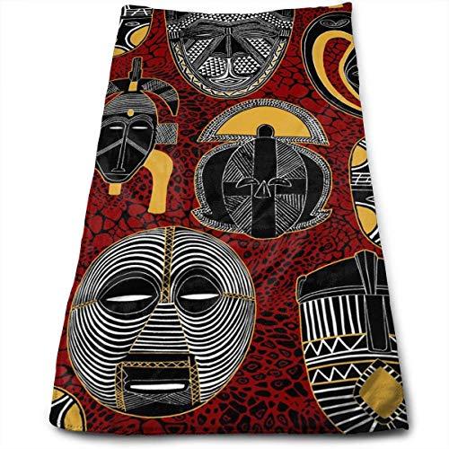 10f9b32332 DAICHAI Mask African Motifs Crazy Microfiber Beach Towel Large & Oversized  - 11.8