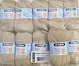 500g Wollpaket, 10x50g Schachenmayr Patons Baby Smiles Fairytale soft dk Fb. 01005 - beige Babywolle zum Stricken und Häkeln, Wolle Pakete günstig