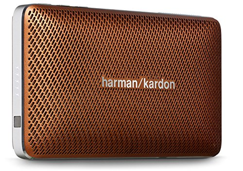 Harman/Kardon Esquire Mini Slimline Tragbares Aufladbares Wireless Bluetooth Lautsprechersystem mit  Integrierter Freisprecheinrichtung - Braun (Bluetooth-lautsprecher Harman Kardon)