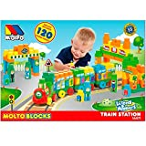 A TRAIN TO PLAY New game of activities of Molto. Build your train with colorful pieces. 120 pieces with different colors, your children will be able to learn the letters and numbers playing and having fun. The 120 pieces Molto blocks train is one ...
