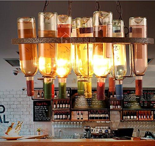 SJUN Lampadario Di Country Americano Art Deco Dell'Annata Industriale Lampada Creativo Bottiglia Di Vino