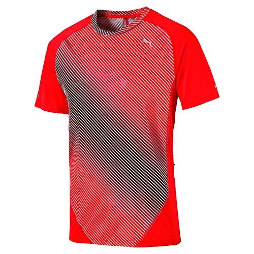 Puma Graphic T-Shirt mit Aufdruck, kurze Ärmel Größe L Red Blast (Mens Kopfhörer Tee)