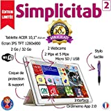Tablette Senior Simplicitab2 10,1' 2 Go/32 Go WiFi [Edition limitée 10è anniversaire] : Coque+Stylet offerts