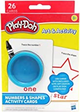 Play Doh Alphabet Activity Cards, Multi Color Pack of 2