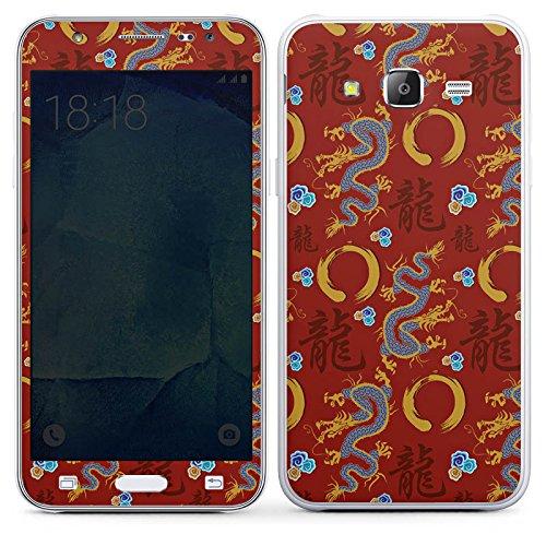 DeinDesign Samsung Galaxy J5 (2015) Folie Skin Sticker aus Vinyl-Folie Aufkleber China Drachen Dragons