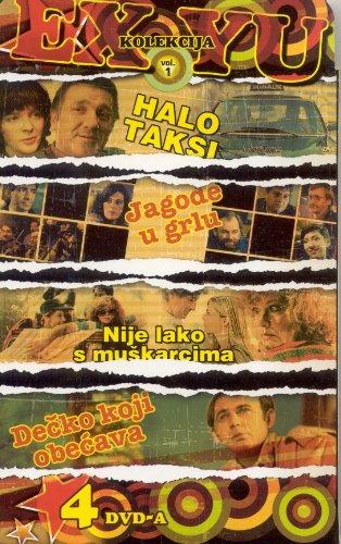 4 filma - HALO TAXI - JAGODE U GRLU - NIJE LAKO S MUSKARCIMA - DECKO KOJI OBECAVA, Ex-Yu Kolekcija (4 DVD)