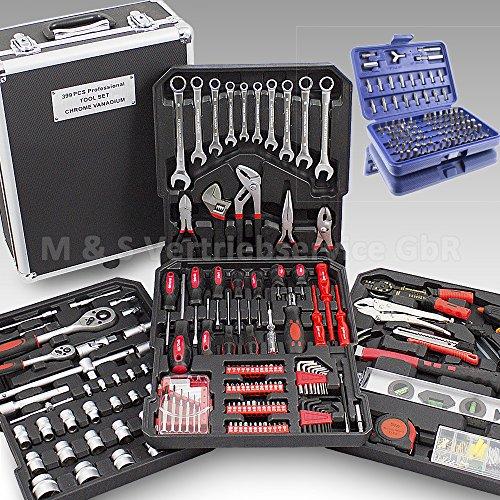 BITUXX-499-Teiliges-Werkzeugkofferset-Werkzeugkasten-Werkzeugbox-Werkzeugkiste-Knarrenkasten