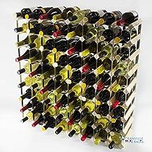 Classic pineta 72 bottiglia e zincato metallo vino rack autoassemblaggio