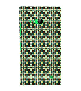 Print Masti Designer Back Case Cover for Nokia Lumia 730 Dual SIM :: Nokia Lumia 730 Dual SIM RM-1040 (Small Square Cubes)