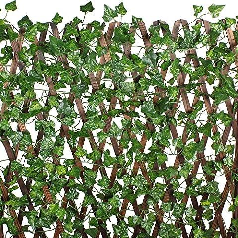 MIHOUNION 7.2 Feet×12pcs Artificial Ivy Leaves Plants Silk Hanging Vines