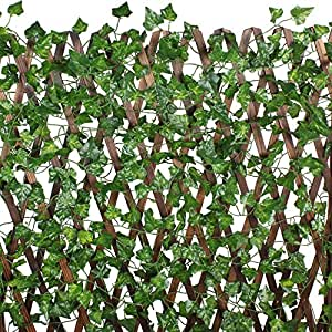 Mihounion 7 2 feet 12pcs artificial ivy leaves plants silk for Finta edera per balconi