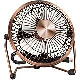 EasyAcc Mini ventilateur USB de Bureau Réglable Portable en métal pour la Maison, Bureau, Extérieur et plus - Bronze