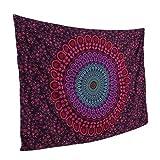 Smile YKK Mandala Wandteppich Hippie Turquoise Wandbehang Wandtuch Tapestry Zimmer Dekoration Rot