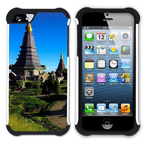 Graphic4You Thailand Strand Postkarte Aussicht Hart + Weiche Kratzfeste Hülle Case Schale Tasche Schutzhülle für Apple iPhone SE / 5 / 5S Design #10