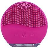 جهاز تدليك الوجه بالموجات فوق الصوتية مضاد للماء بفرشاة سيليكون لتنظيف الوجه للعناية ببشرة الوجه