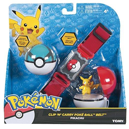 Rocco Giocattoli T18889D - Pokemon Clip n' Carry Poke Ball Belt, Colori Assortiti