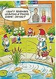 Garten Angeln Katze Gnome Humorvolle Geburtstagskarte Rainbow Karten von Ling Design