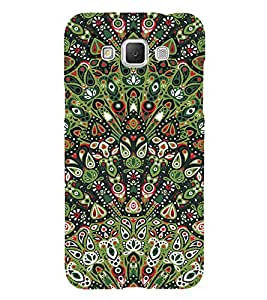 Fabcase green gathered chinese patterns Designer Back Case Cover for Samsung Galaxy Grand Max G720F