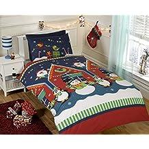 Rapport caseta de Papá Noel para Navidad juego de funda nórdica, multicolor, Toddler
