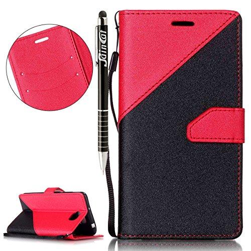 Custodia Huawei Y5 II,SainCat Custodia in pelle Protettiva Flip Cover per Huawei Y5 II,Anti-Scratch Protettiva (2 Descrizione Pulsante)
