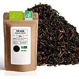 Thé Noir Bio ★ Assam Blatt TGFOP ★ Thé Noir en Vrac ★ Sachet 200 grammes avec Zip ★ 80 Tasses ★ 100% Agriculture Biologique ★