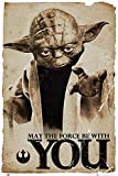 Star Wars Poster Yoda May the Force be with You (61cm x 91,5cm)