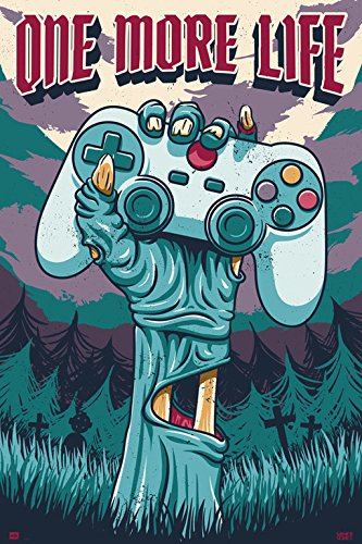 Grupo Erik Editores GPE5230 - Poster con diseño Gamer One More Life,...