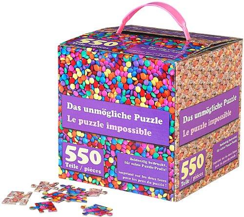 infactory Geduldspiel: Das unmögliche Puzzle: Beidseitig Bedruckt, für echte Profis (Doppelseitiges Puzzle)